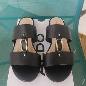 ALDO Black Slides